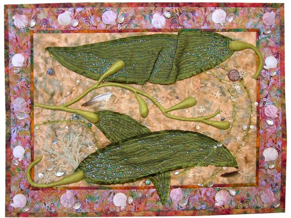 Art Quilt: Gifts From the Sea by Meri Vahl