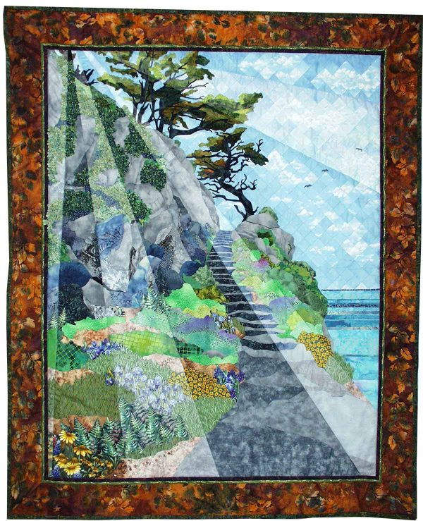 Art Quilt: Inspiration at Cypress Grove by Meri Vahl
